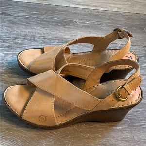 New Born leather sandals!  Size 7M